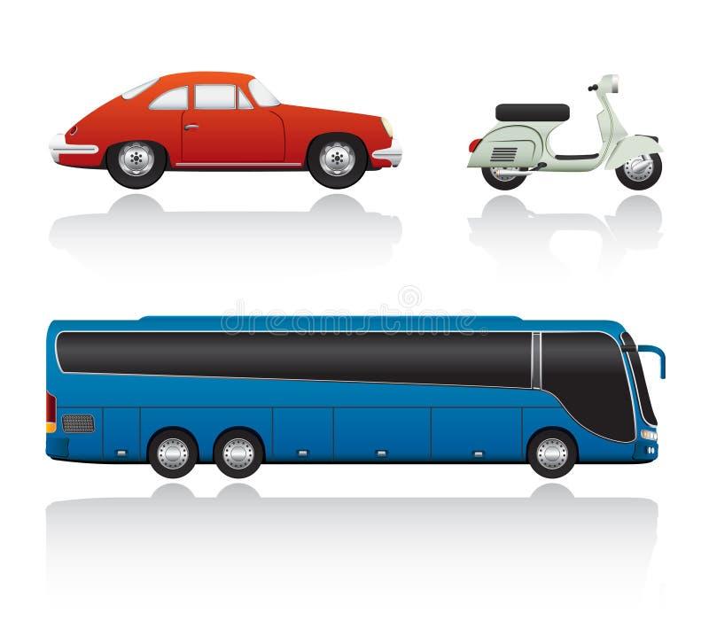 Jogo do transporte do vetor ilustração do vetor