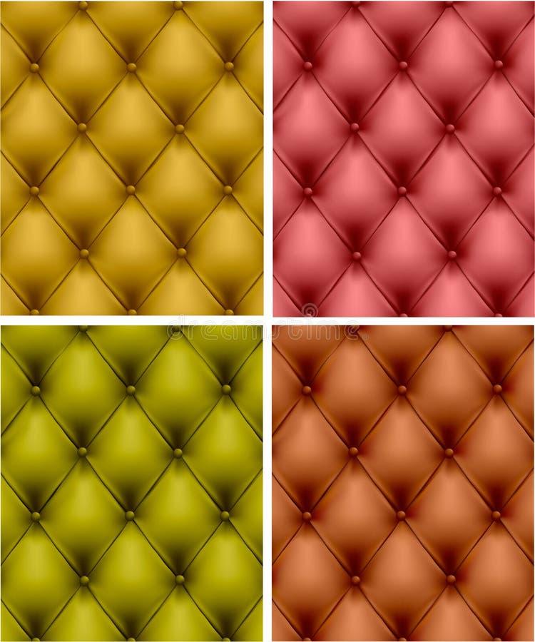 Jogo do upholstery do couro da cor. ilustração do vetor