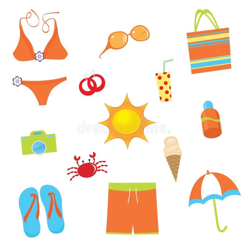 Jogo do verão ilustração stock