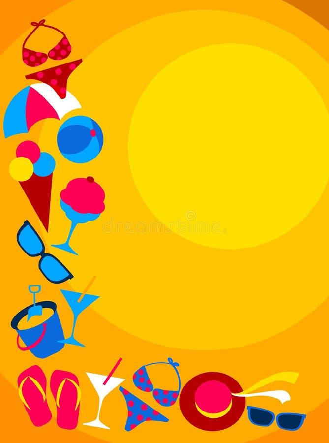 Jogo do verão e do ícone do curso ilustração royalty free