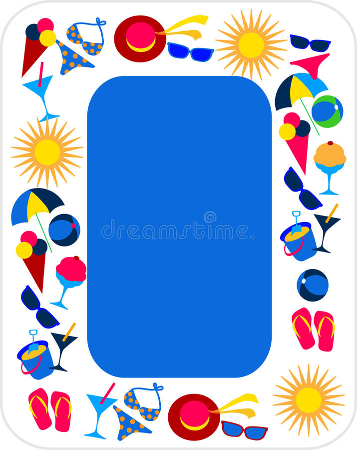 Jogo do verão e do ícone do curso ilustração stock