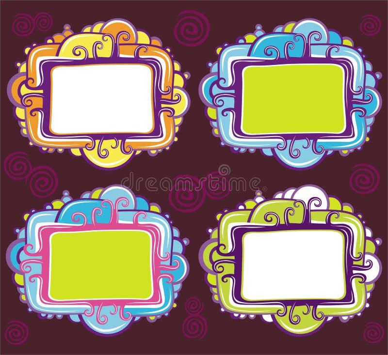 Jogo do vetor de frames retros do projeto fresco ilustração stock