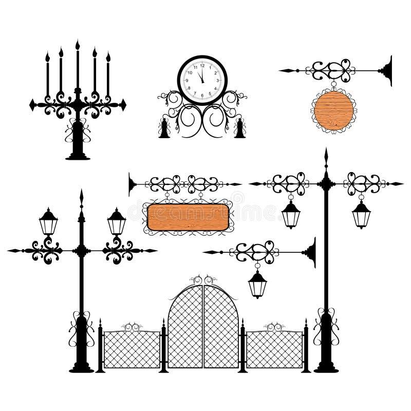 Jogo do vetor do ferro feito ilustração royalty free