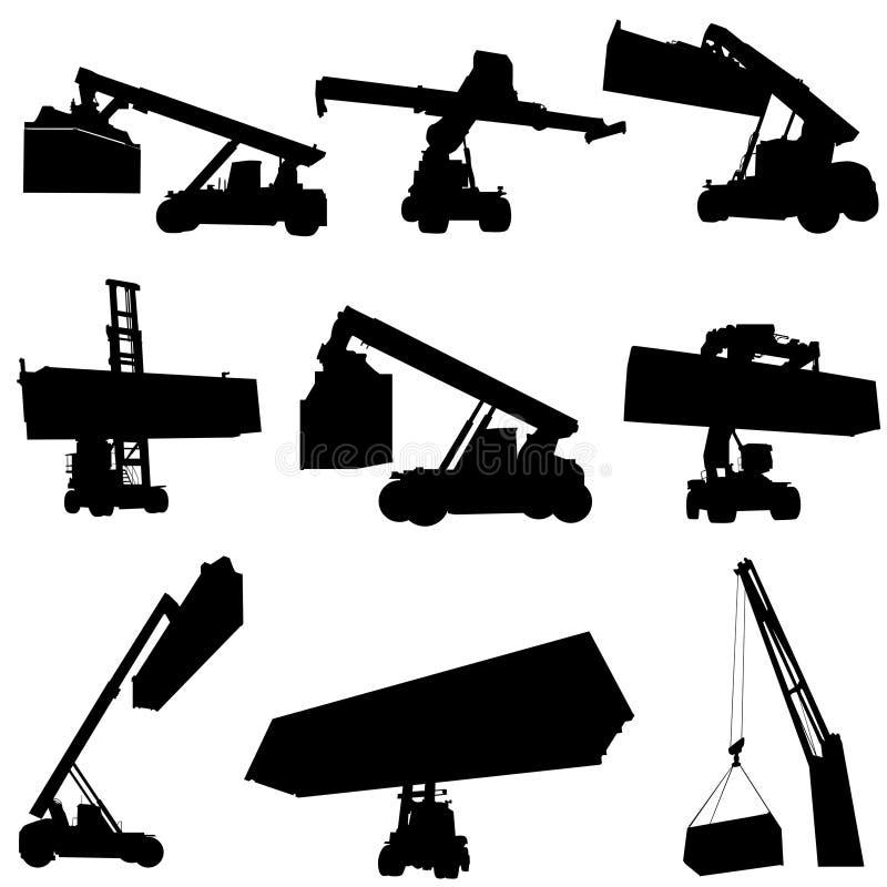 Jogo do vetor do Forklift ilustração royalty free