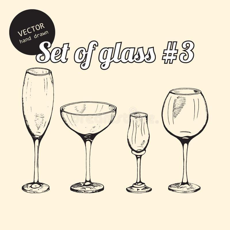 Jogo do vidro ilustração stock