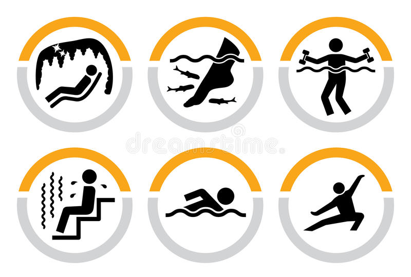 Jogo do Wellness e dos pictograma dos termas II ilustração stock