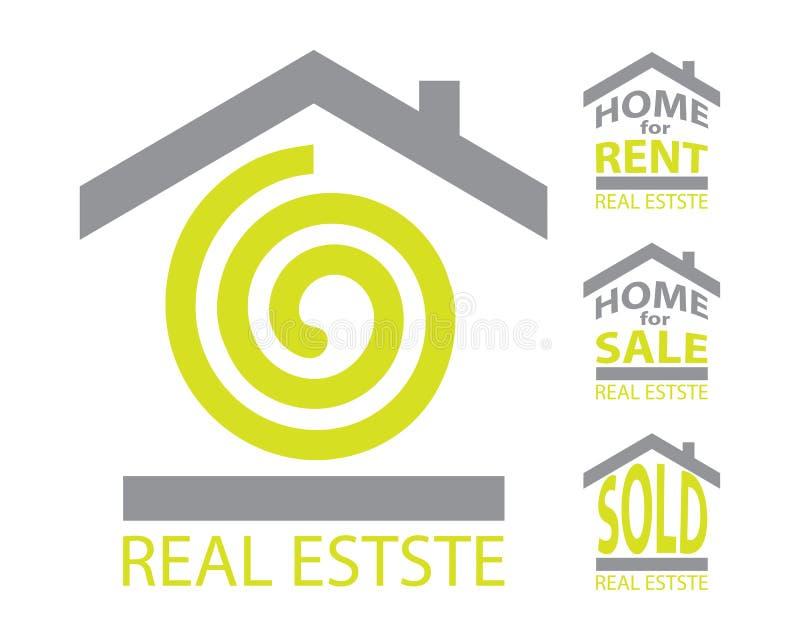 Jogo dos bens imobiliários ilustração royalty free