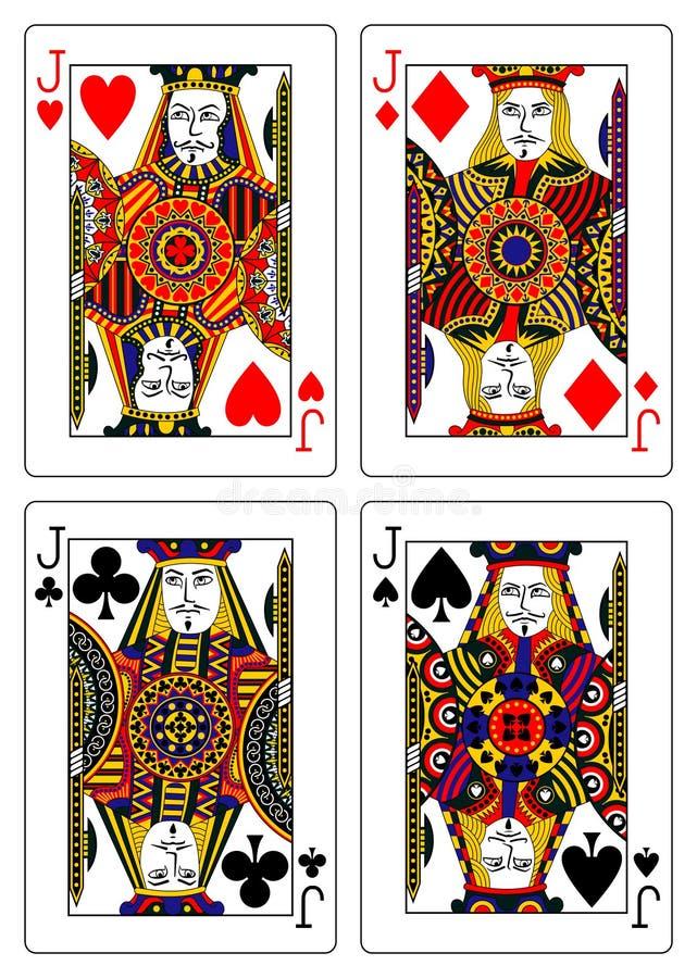 Jogo dos cartões de jogo 62x90 dos jaques milímetro ilustração do vetor
