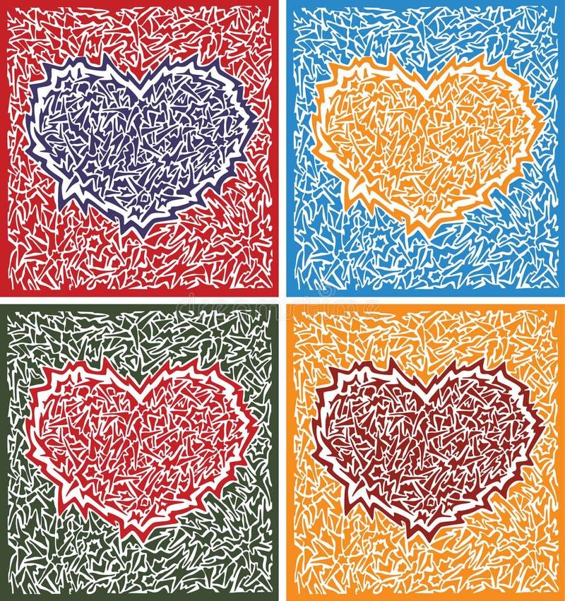 Jogo dos corações ilustração do vetor