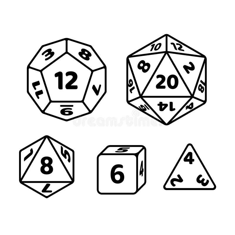 Jogo dos dados do jogo ilustração royalty free