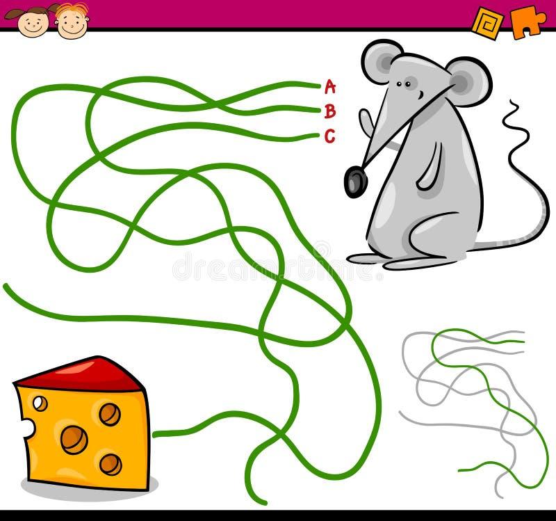 Jogo dos desenhos animados do trajeto ou do labirinto