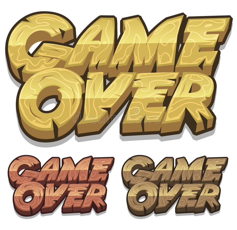 Jogo dos desenhos animados sobre o ícone para o jogo de Ui ilustração stock