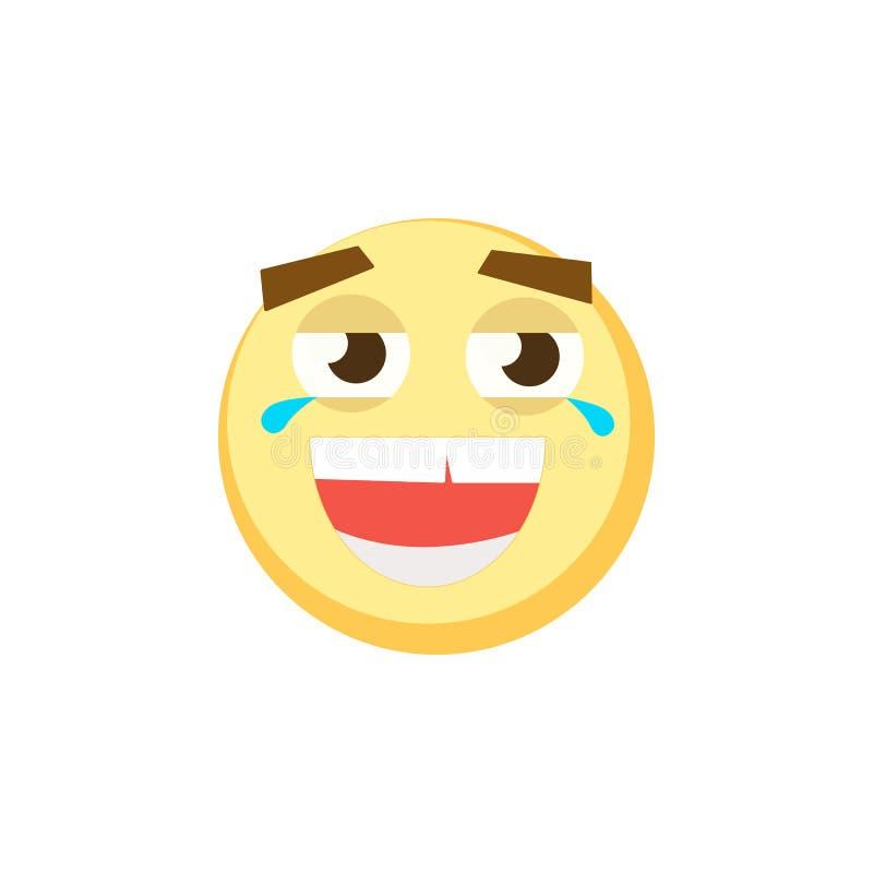 Jogo dos emoticons Grupo de Emoji Ícones do sorriso Ilustração isolada do vetor no fundo branco ilustração stock