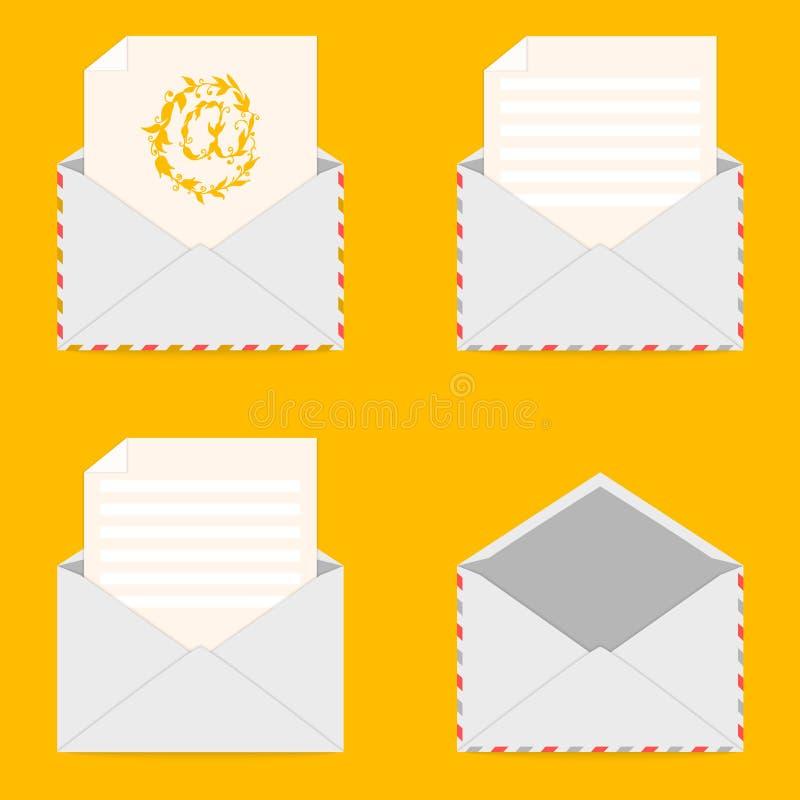 Jogo dos envelopes ilustração do vetor