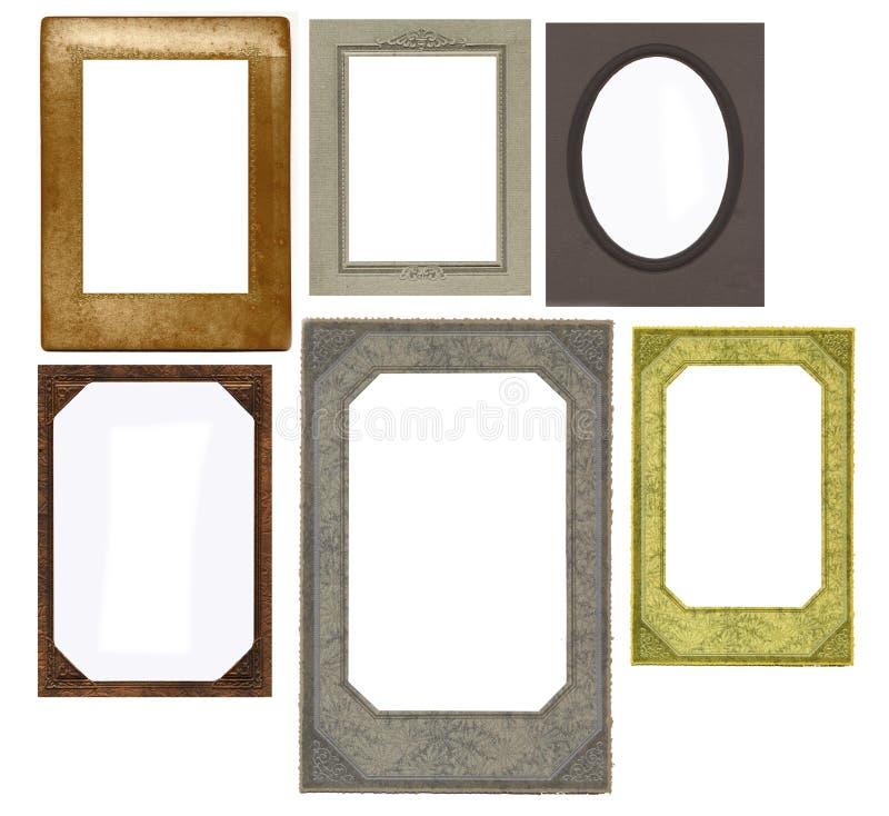 Jogo dos frames do vintage isolados no branco ilustração royalty free