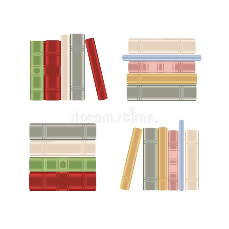 Jogo dos livros em uma biblioteca ilustração do vetor