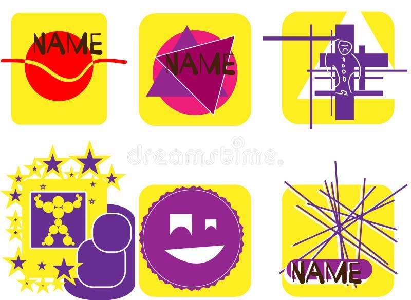 Jogo dos logotipos Coleção das etiquetas imagem de stock royalty free