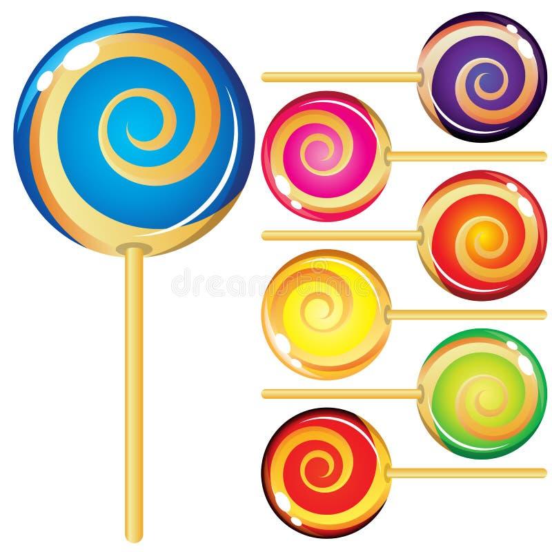 Jogo dos lollypops ilustração stock
