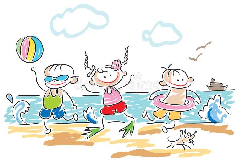 Jogo dos miúdos ilustração stock