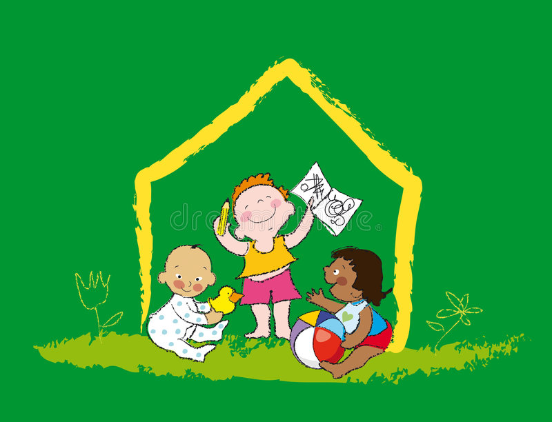 Jogo dos miúdos ilustração royalty free