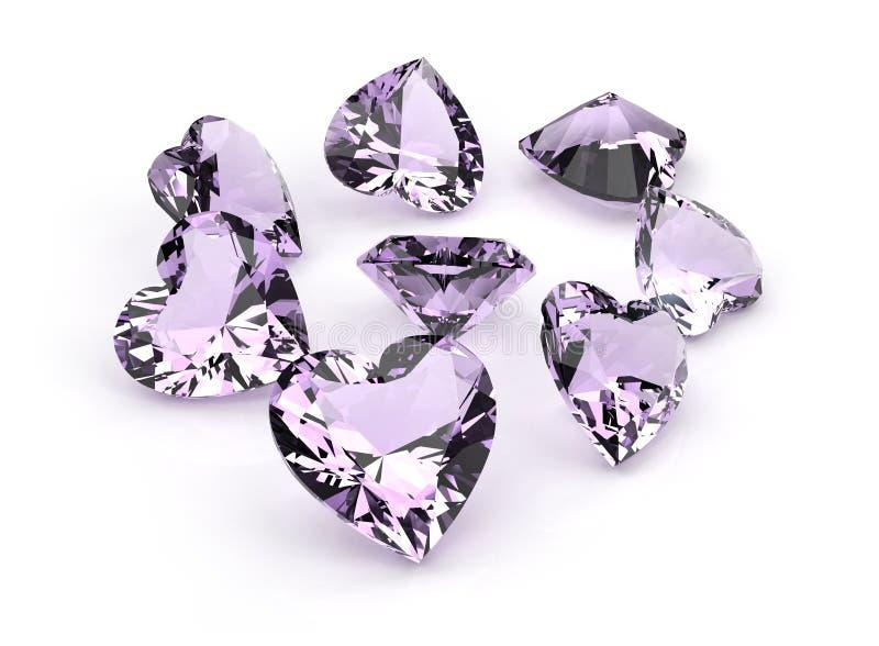 Jogo dos muitos gemstone diferente foto de stock royalty free