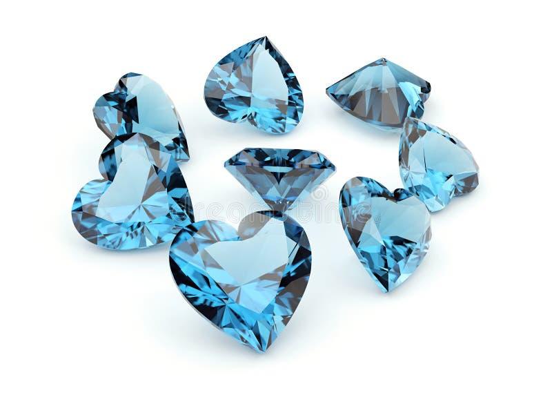 Jogo dos muitos gemstone diferente foto de stock