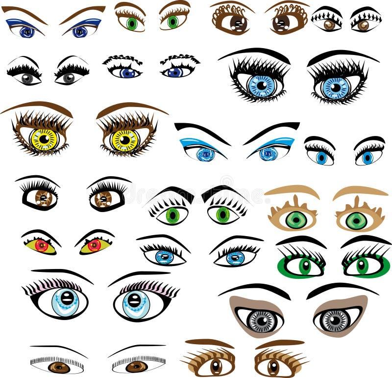 Jogo dos olhos ilustração stock