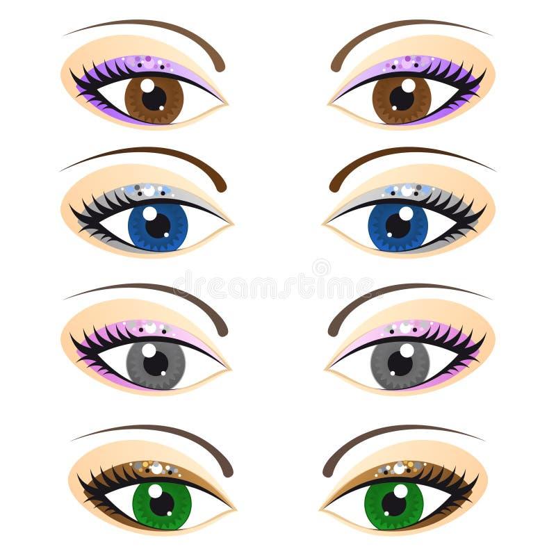 Jogo dos olhos fêmeas ilustração stock