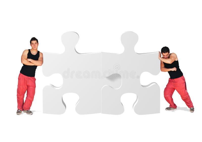 Jogo dos pares do enigma foto de stock