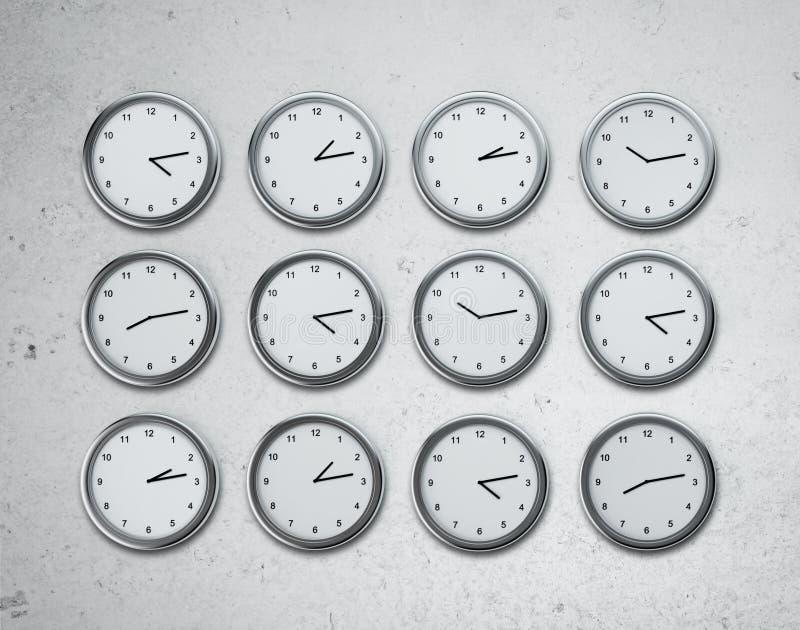Jogo dos relógios ilustração royalty free