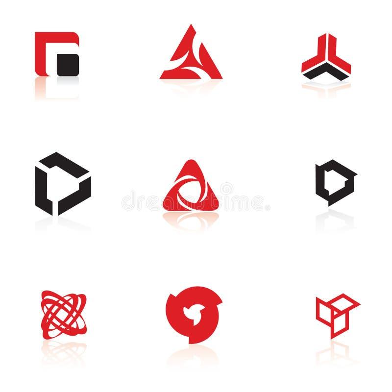 Jogo dos símbolos, elementos do logotipo imagens de stock royalty free