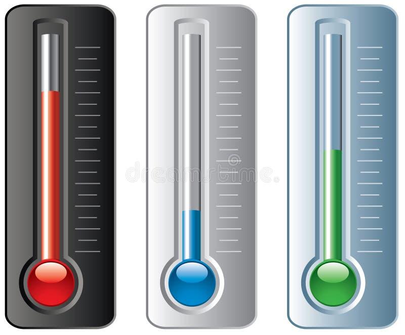 Jogo dos termômetros ilustração stock
