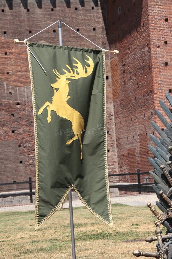Jogo dos tronos, Milão 2017 fotos de stock royalty free