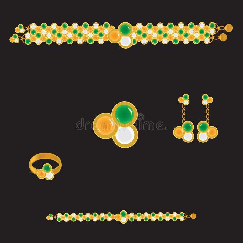Jogo dourado ilustração do vetor