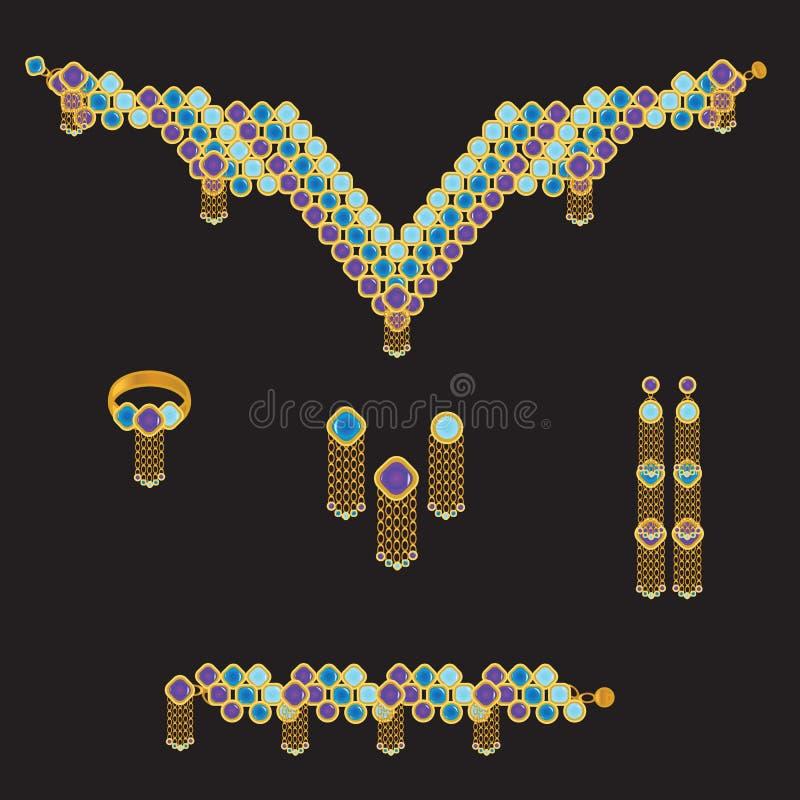 Jogo dourado ilustração stock