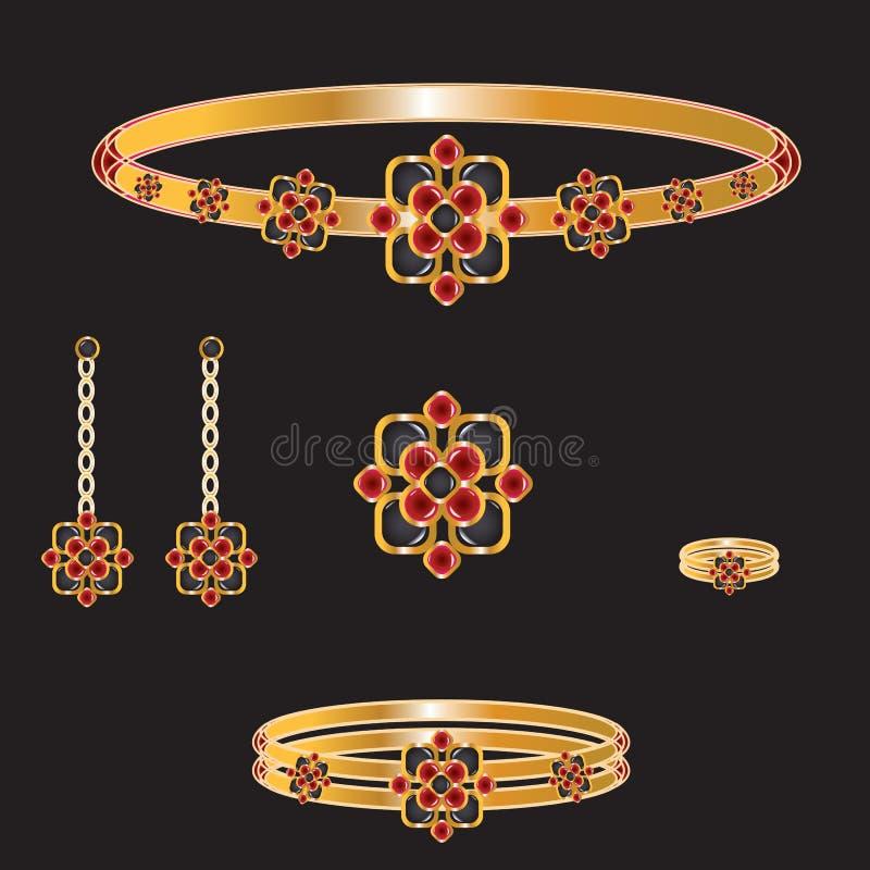 Jogo dourado ilustração royalty free