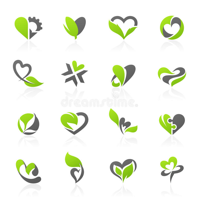 jogo Eco-temático do molde do logotipo do vetor