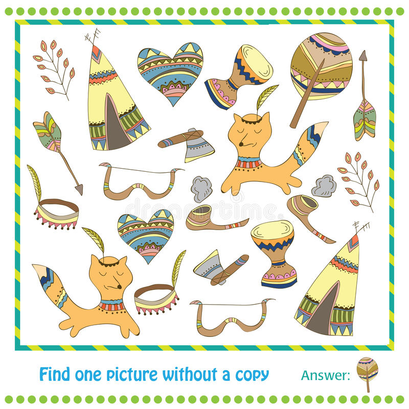 Jogo educacional para crianças - achado da ilustração ilustração royalty free