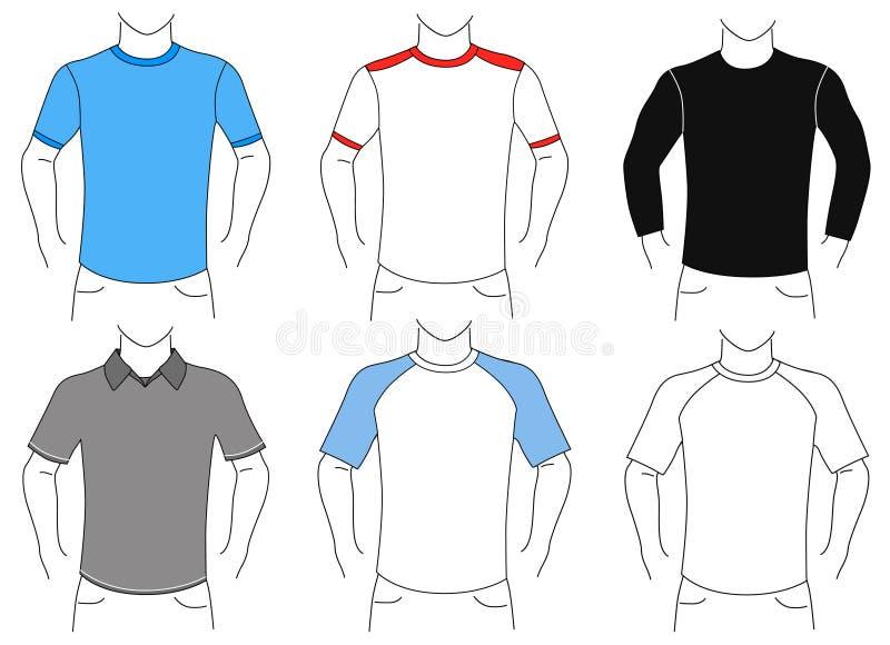 Jogo em branco da camisa de t ilustração do vetor
