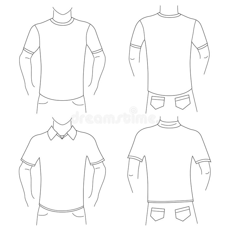 Jogo em branco da camisa de t ilustração royalty free