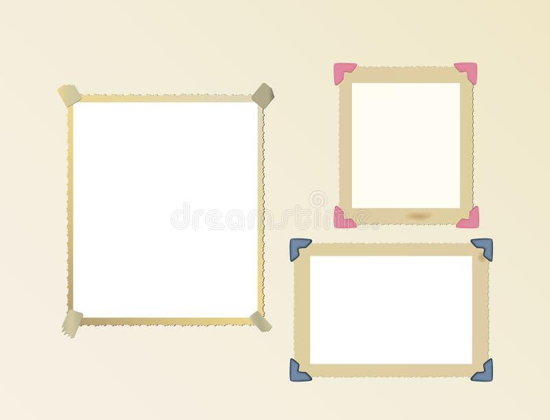 Jogo em branco do frame da foto ilustração do vetor