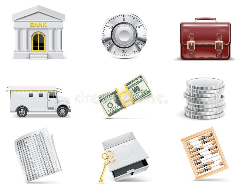 Jogo em linha do ícone da operação bancária do vetor. Parte 3