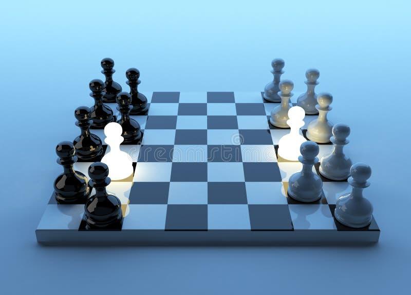 Jogo em um penhor. Estratégia empresarial. ilustração stock