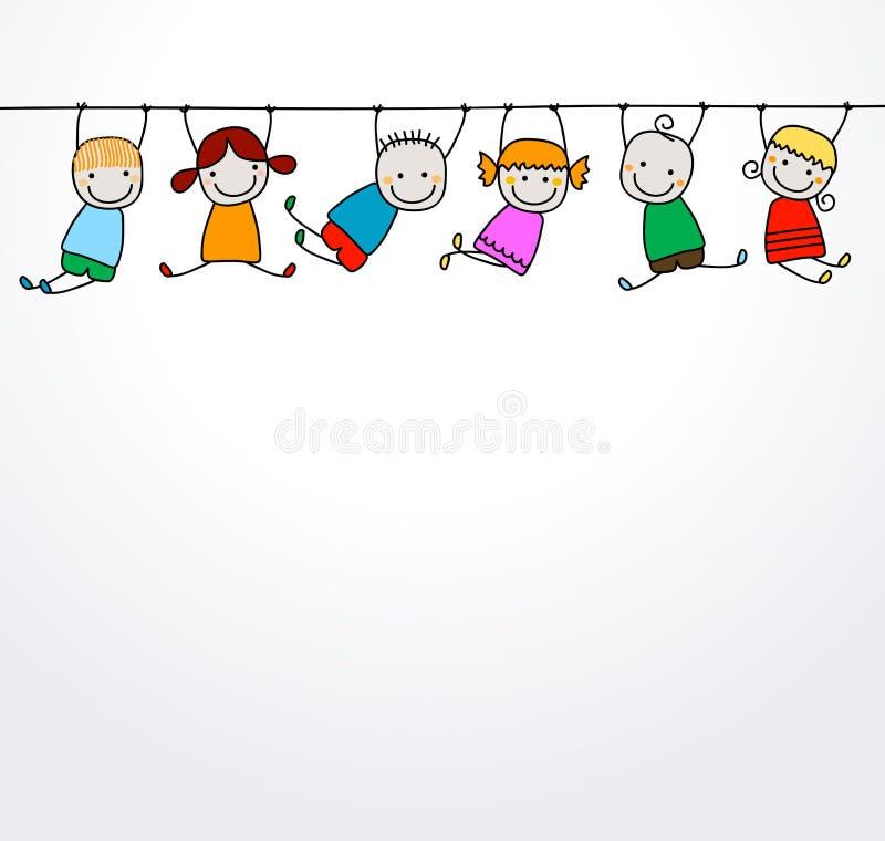 Jogo feliz dos miúdos ilustração stock