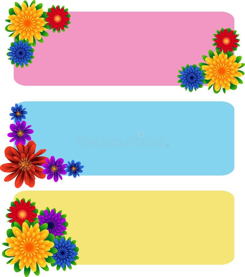 Jogo floral da bandeira ilustração royalty free