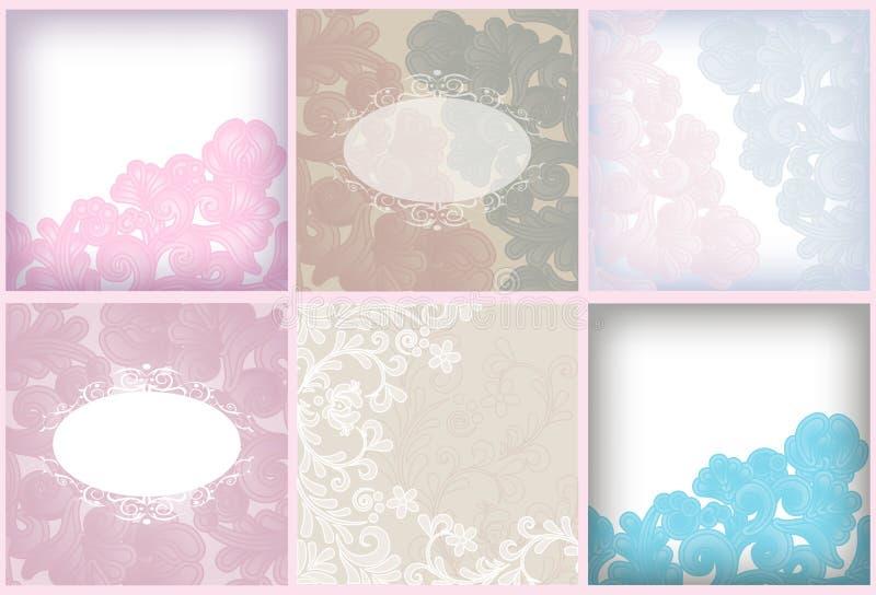 Jogo floral macio do fundo ilustração do vetor