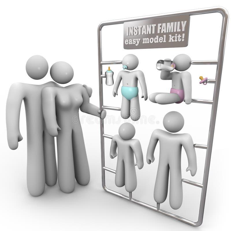 Jogo imediato do modelo da família ilustração do vetor