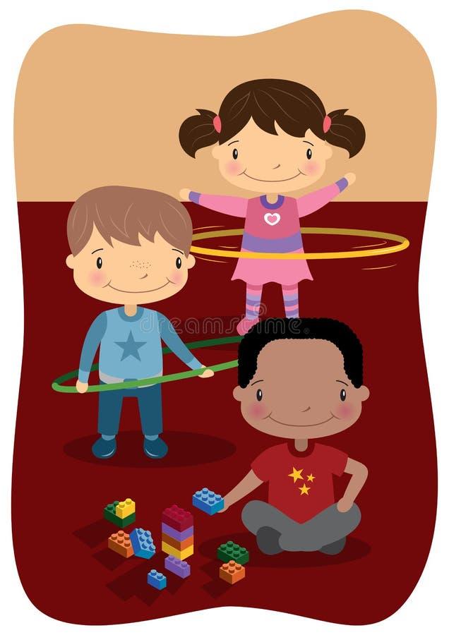 Jogo interno das crianças ilustração royalty free