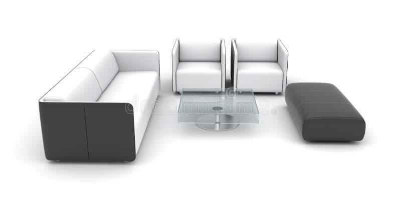 Jogo isolado da mobília ilustração do vetor