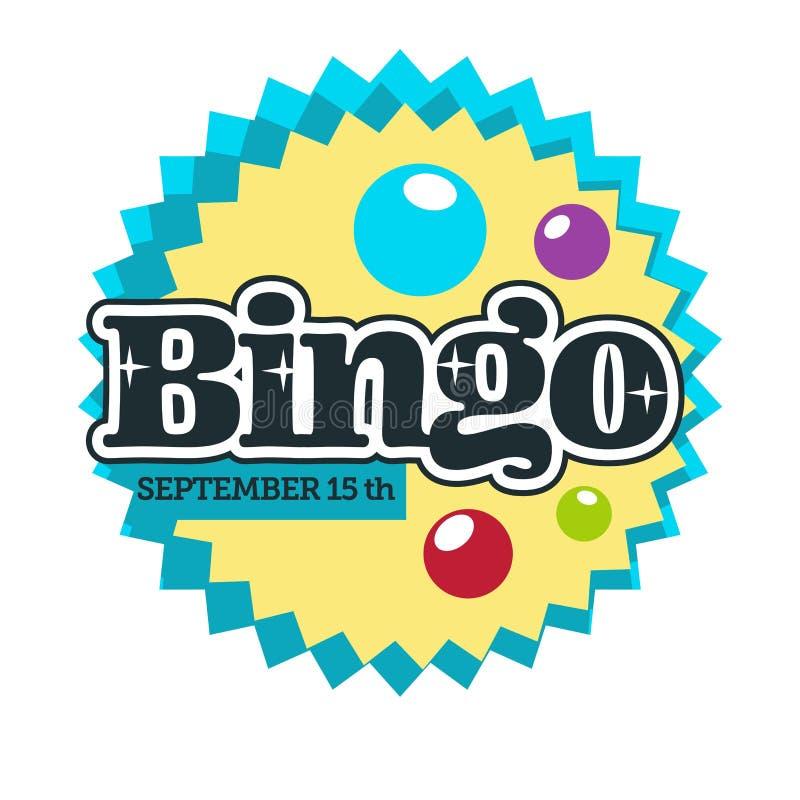 Jogo isolado jogo do ícone do Bingo e clube do casino ilustração stock